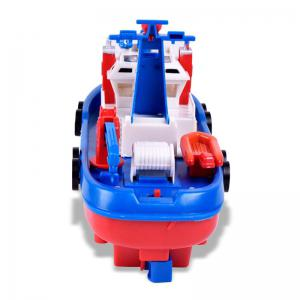 Marine Rescue Electric Music Light Water Spraying Ship Toy -