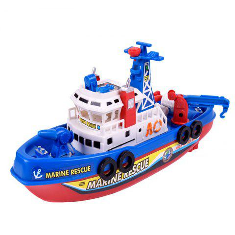 Chic Marine Rescue Electric Music Light Water Spraying Ship Toy