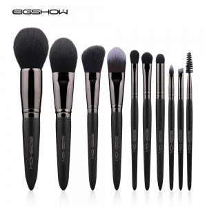 EIGSHOW Ensemble de maquillage 10PCS Vegan Brush Kit Champaign & Rose Gold & Light Gun Noir -