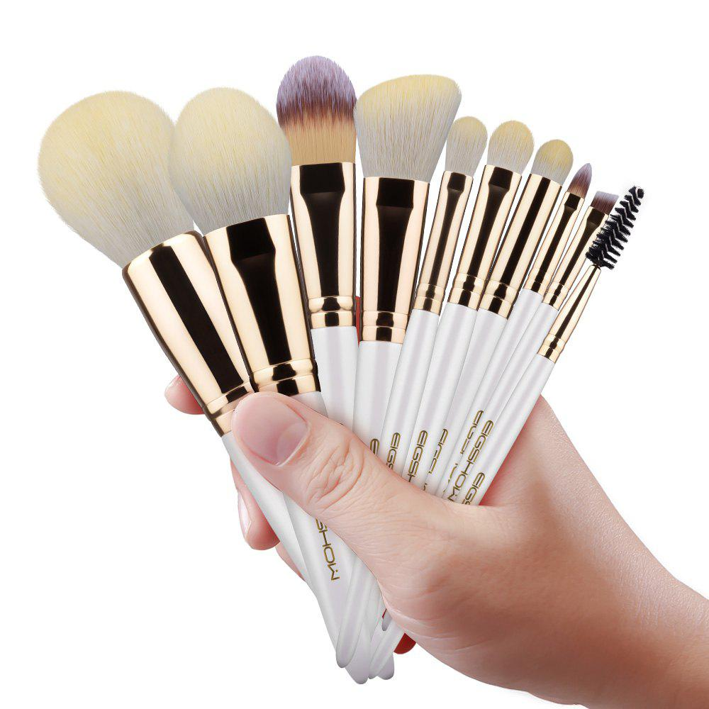 EIGSHOW Ensemble de maquillage 10PCS Vegan Brush Kit Champaign & Rose Gold & Light Gun Noir