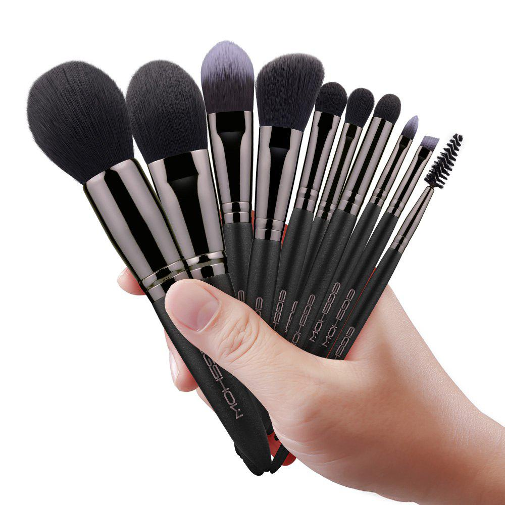Store EIGSHOW Makeup Set 10PCS Vegan Brush Kit Champaign&Rose Gold&Light Gun Black