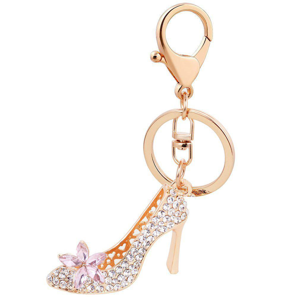 Trendy EASYA Fashion Rhinestone High Heeled Shoe Keyring Crystal Shoes Keychains