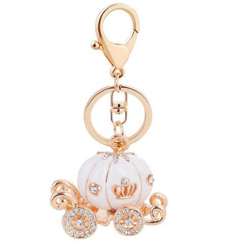 EASYA Keychain Fashion Luxury Car Key Ring Grade Resin Pumpkin Car Diamond