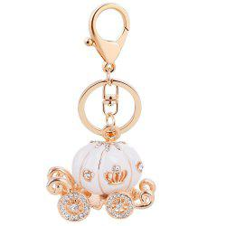EASYA Keychain Fashion Luxury Car Key Ring Grade Resin Pumpkin Car Diamond -