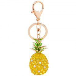 Cute Fashion 3D Cubic Graven Pineapple Shaped Rhinestone Alloy Metal Car Bag -