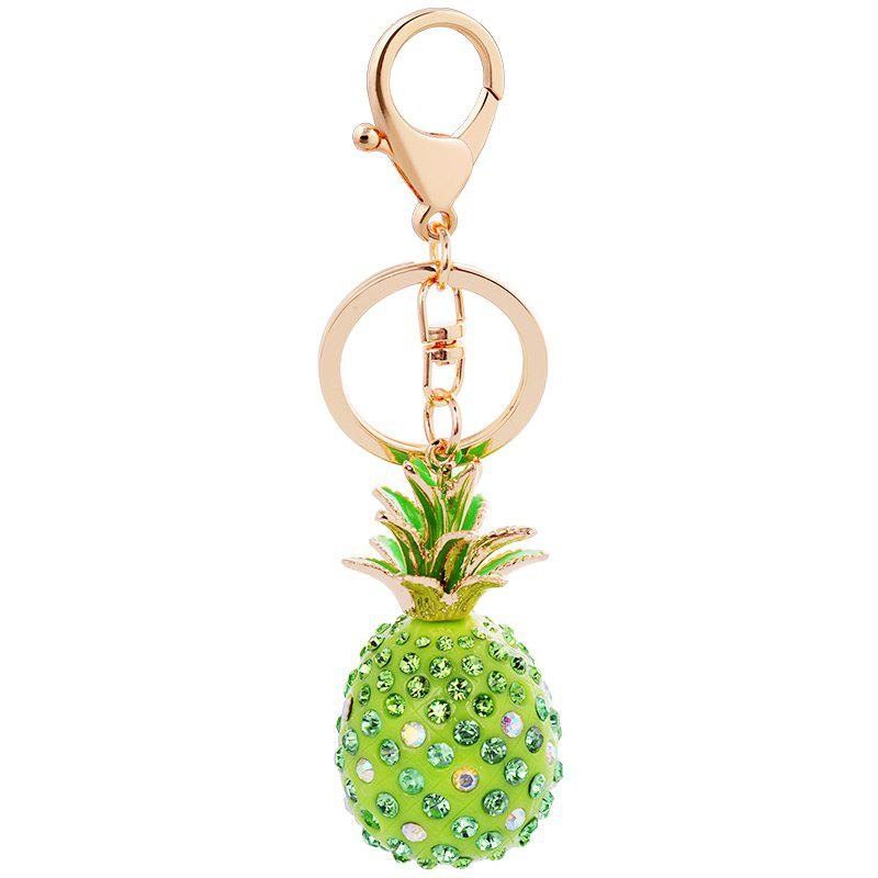 Outfit Cute Fashion 3D Cubic Graven Pineapple Shaped Rhinestone Alloy Metal Car Bag