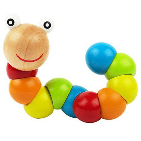 Fashion Wood Caterpillar Twist Insects Puzzle Toys Exercise Baby Fingers Flexible