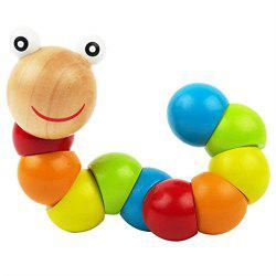 Wood Caterpillar Twist Insects Puzzle Toys Exercise Baby Fingers Flexible -