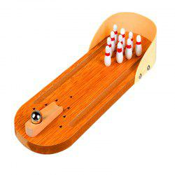 Wooden Mini Bowling Parent-child Interactive Decompression Creative Board Game -