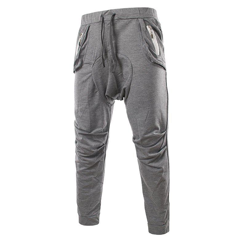 Мужская мода Pocket Zip Design Feet Casual Pants