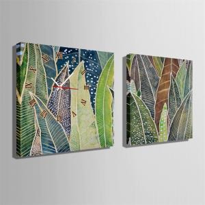 Special Design Frame Paintings Banana Leaf Print 2PCS -