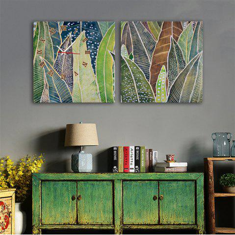 Fashion Special Design Frame Paintings Banana Leaf Print 2PCS