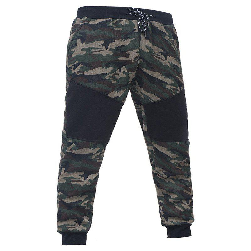 Fancy Camo Stitching Casual Sports Trousers