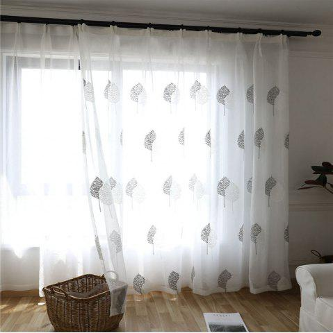 Store White  Embroidered Window Yarn