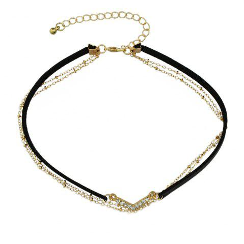 Collier multicolore en cuir PU
