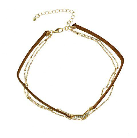 Shops Various Colors PU Leather Choker Necklace