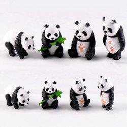 Chinese Giant Panda Dolls Creative Home Furnishing 8PCS -