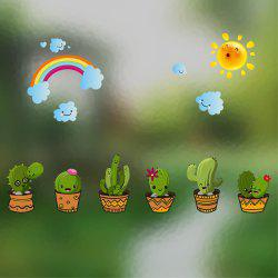 Creative Decorative Cartoon 3D Potted Wall Stickers -