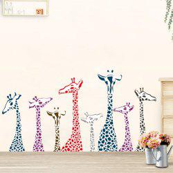 Dimensional Living Room Bedroom Engraving Handmade Giraffe Wall Sticker -