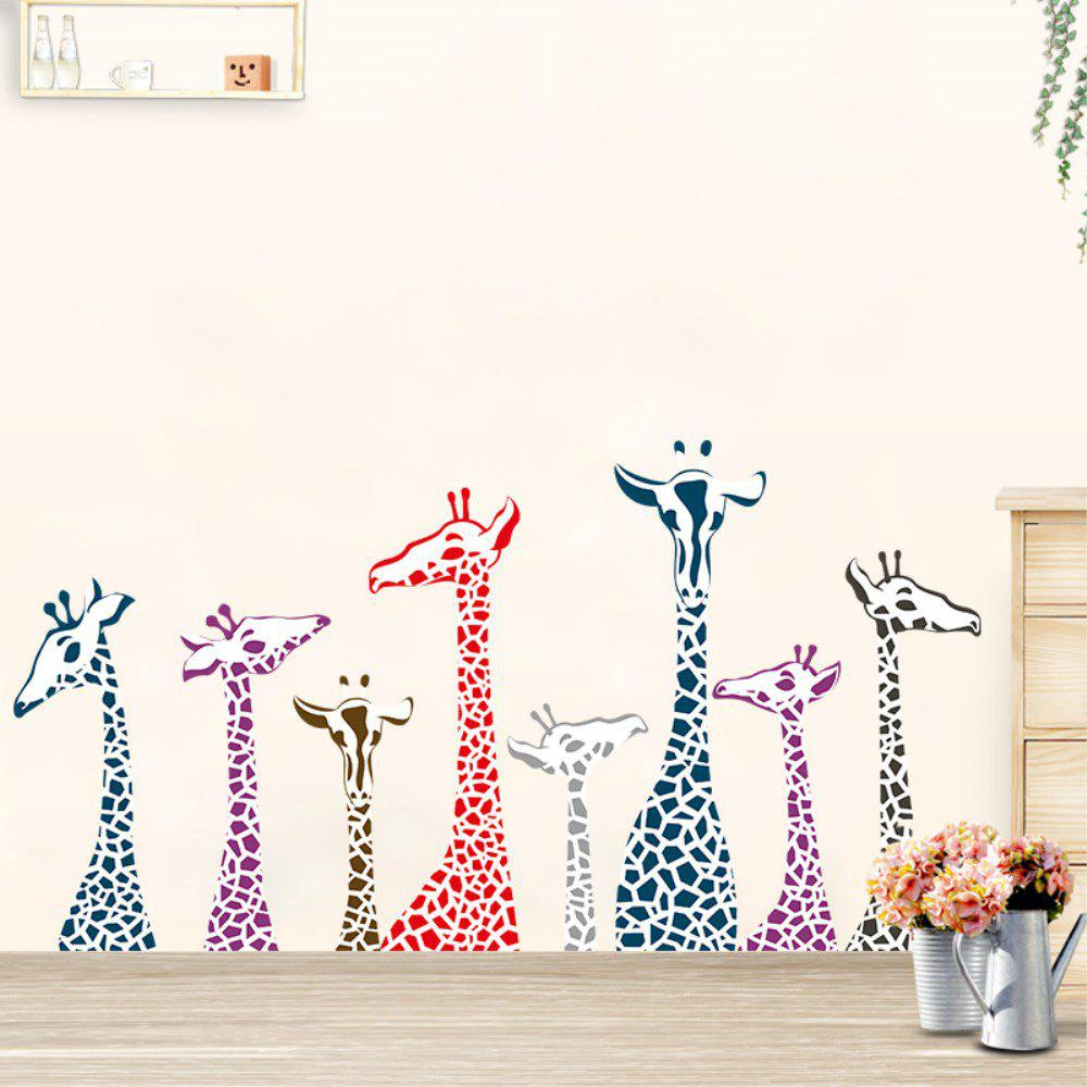Discount Dimensional Living Room Bedroom Engraving Handmade Giraffe Wall Sticker