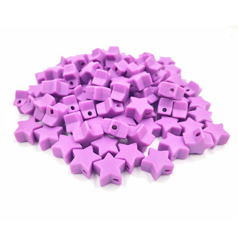Fashion Baby Multicolor Little Star Shape Silicon Beads Stars 10PCS