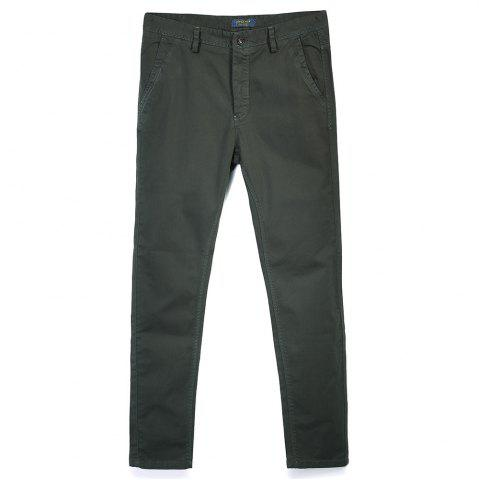 Store Man's Pure Color Straight Tube Casual Pants