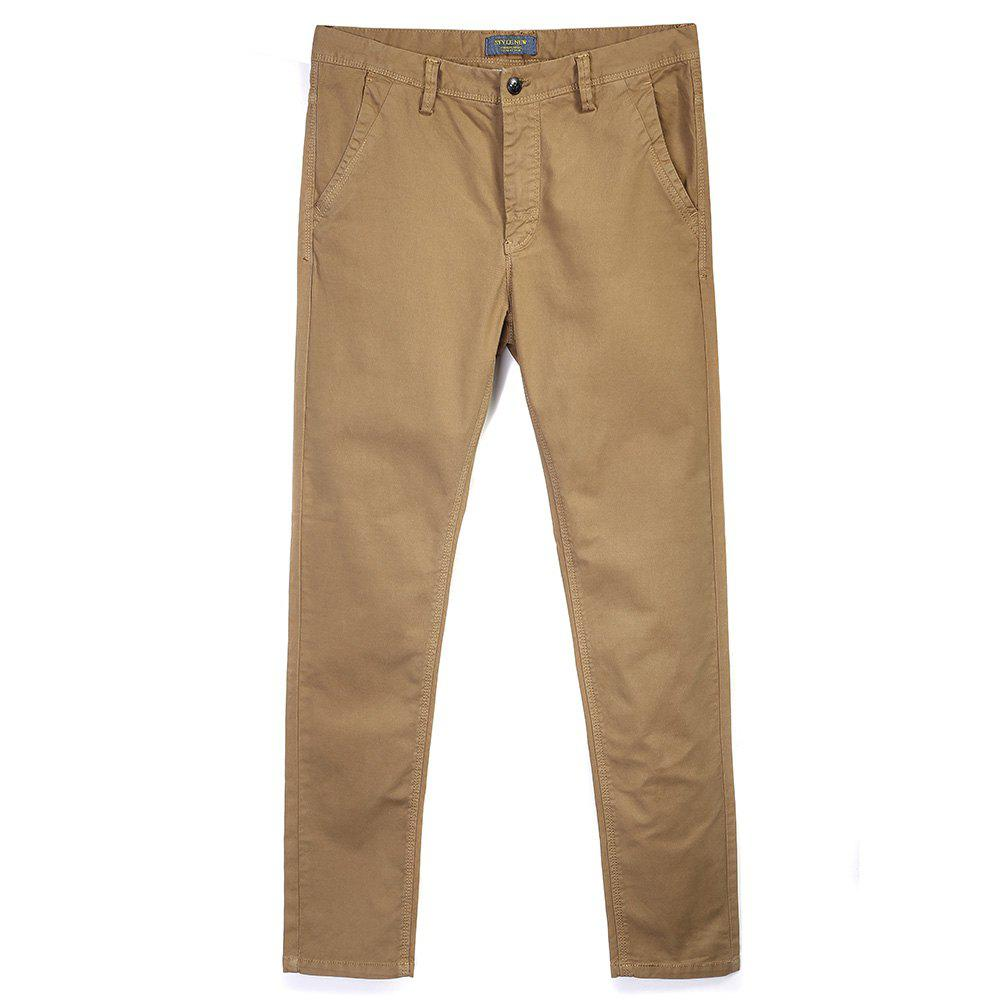 New Man's Pure Color Straight Tube Casual Pants