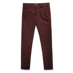 Men's Fashion Simple and Pure Color Straight Tube Casual Pants -