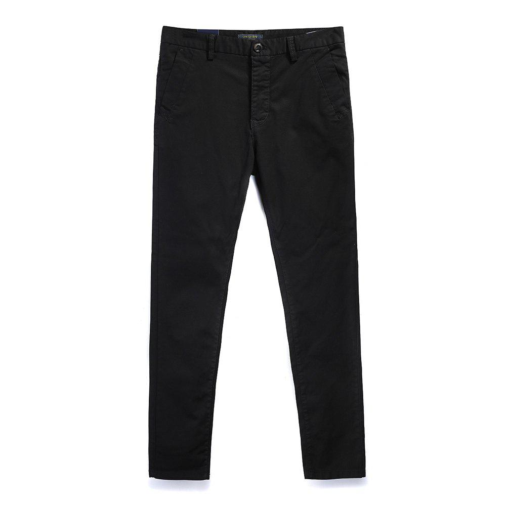 Fashion Men's Fashion Simple and Color Straight Tube Casual Pants