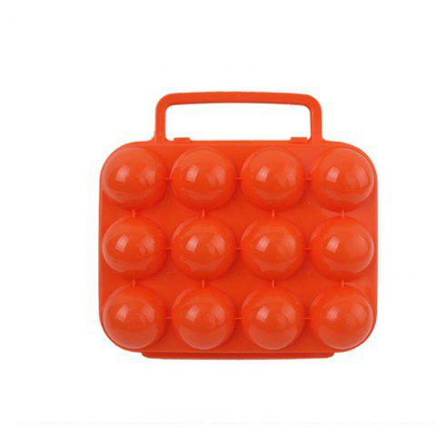 Latest Outdoor Reusable Picnic Garden Portable Folding Plastic Egg Storage Case Tray
