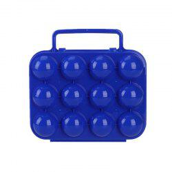 Outdoor Reusable Picnic Garden Portable Folding Plastic Egg Storage Case Tray -