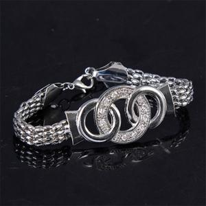 Classic Stainless Steel Chain Bracelet Necklace Jewelry Set Color Silver -