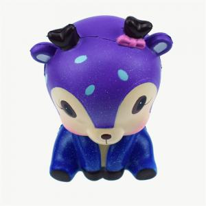 New PU Slow Rebound Jumbo Squishy Blue Cute Starry Deer Model -