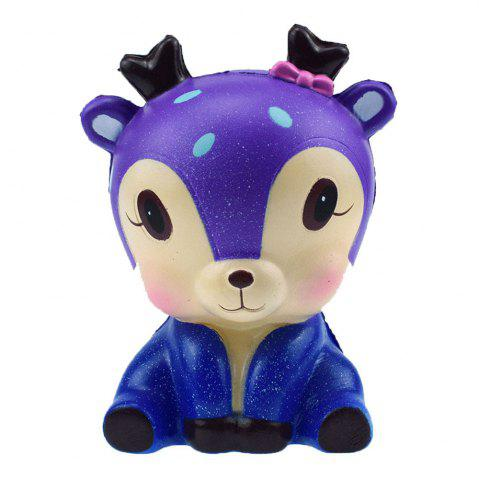 Trendy New PU Slow Rebound Jumbo Squishy Blue Cute Starry Deer Model