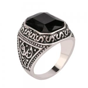 PULATU Men's Square Totem Resin Ring -
