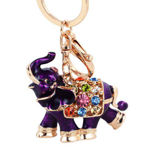 Trendy Genuine Dripping Diamond Elephant Car Keychain Girls Bags Pendant Gift Key