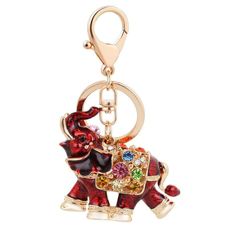 Latest Genuine Dripping Diamond Elephant Car Keychain Girls Bags Pendant Gift Key