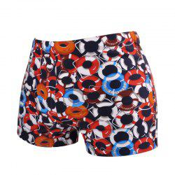 Printed Man Swimming Laps Boxer Swimming Trunks -