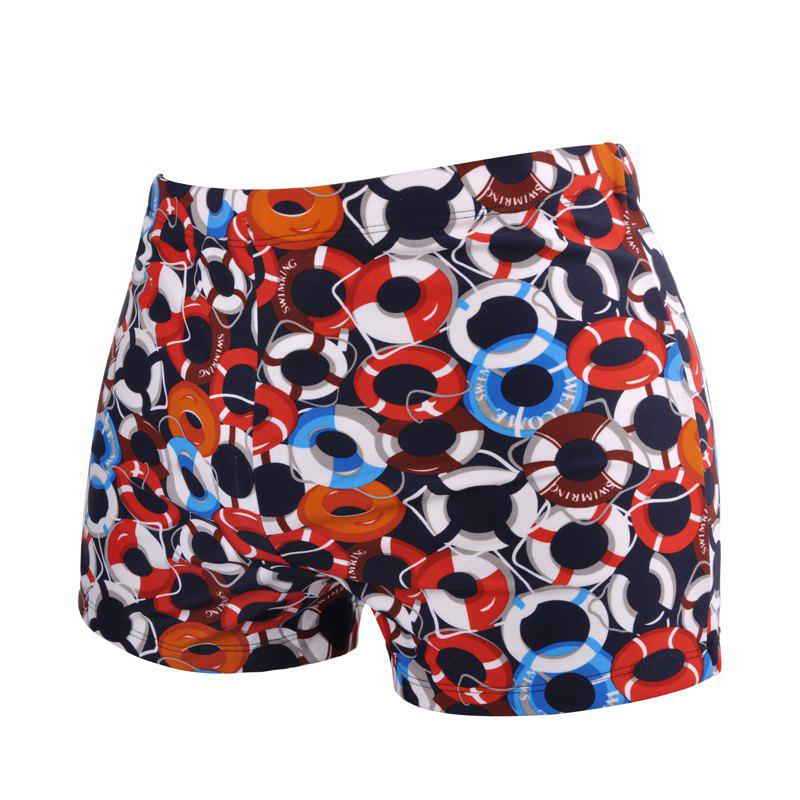 Chic Printed Man Swimming Laps Boxer Swimming Trunks