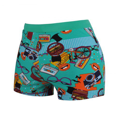 Affordable Men's Cartoon Boxer Swimming Trunks