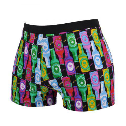 New Man Comfortable Color Bottle Boxer Swimming Trunks