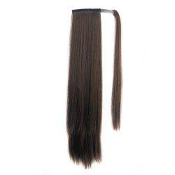 Long Straight Synthetic Wrap Around Ponytail Hairpieces Hair Extension for Women -