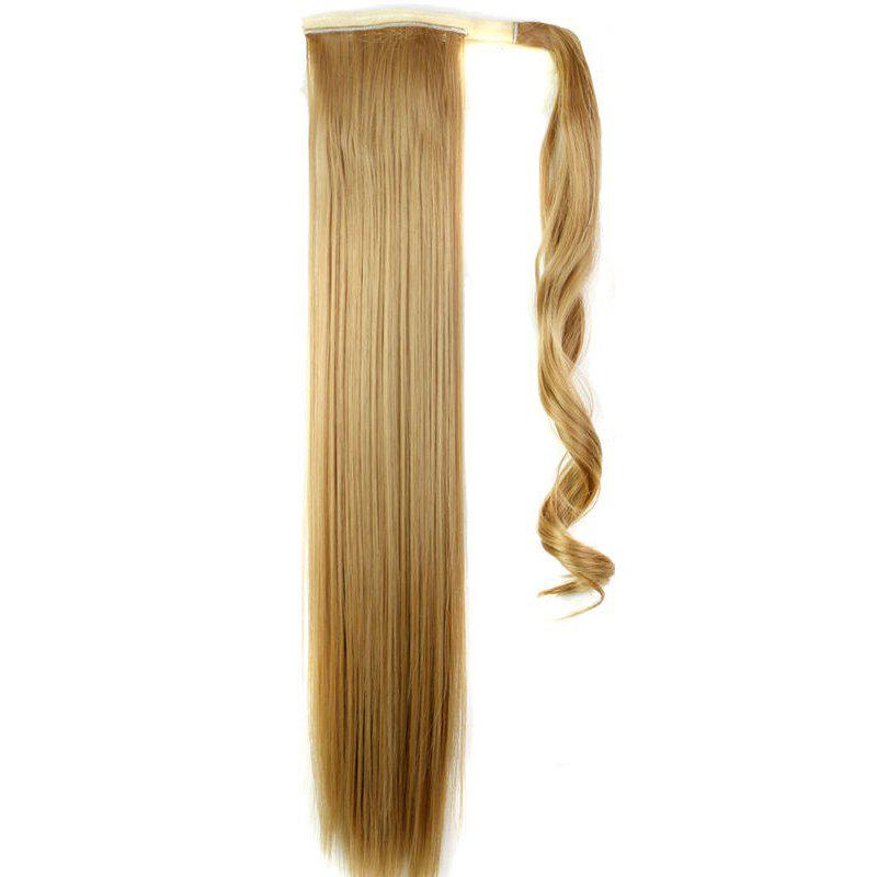 Discount Long Straight Synthetic Wrap Around Ponytail Hairpieces Hair Extension for Women