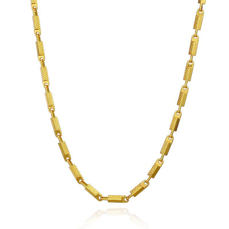 Hot Big Pattern Exaggerated Wild Color Copper Chain Necklace