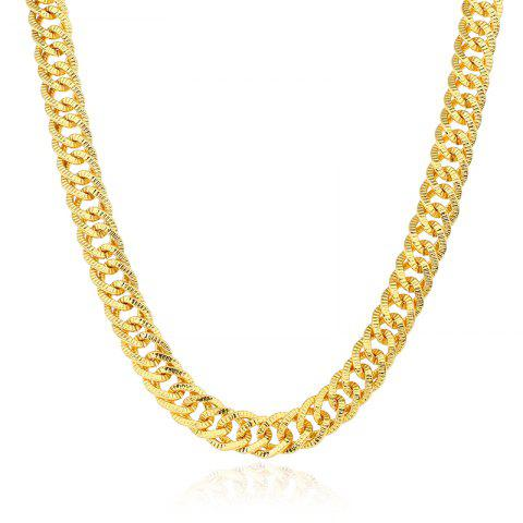 Outfit Exaggerated Tasseled Gold-Plated Color Pattern Long Chain Necklace