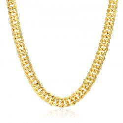 Exaggerated Tasseled Gold-Plated Color Pattern Long Chain Necklace -