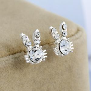 Rabbit Bunny Diamond Ear Studs -