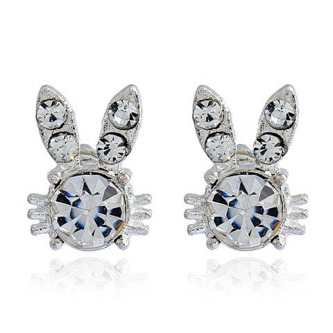 Fashion Rabbit Bunny Diamond Ear Studs