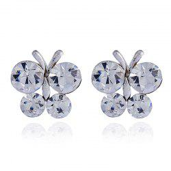 Vintage Sen Diamond Butterfly Wing Earrings -