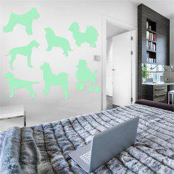 Noctilucent Engraving Adorable Dogs Cartoon Switch Wall Sticker -